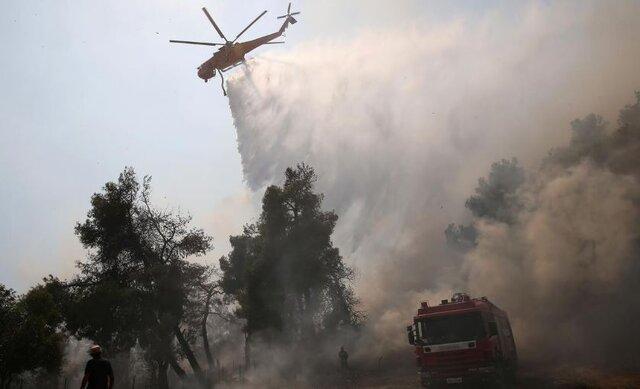 "جنگلهای بکر ""ائوبویا""ی یونان درآتش سوخت"