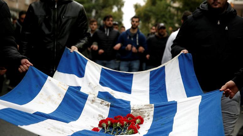 درگیری پلیس یونان با دانشجویان