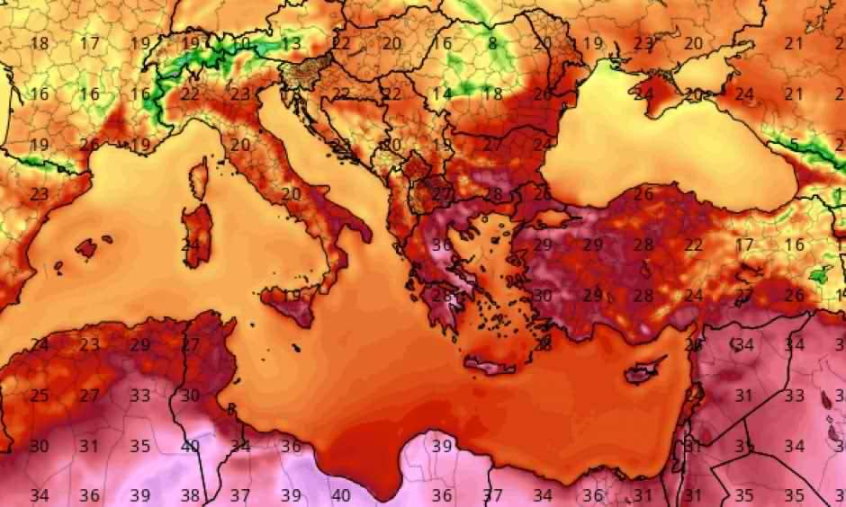 گرمای بی سابقه در یونان